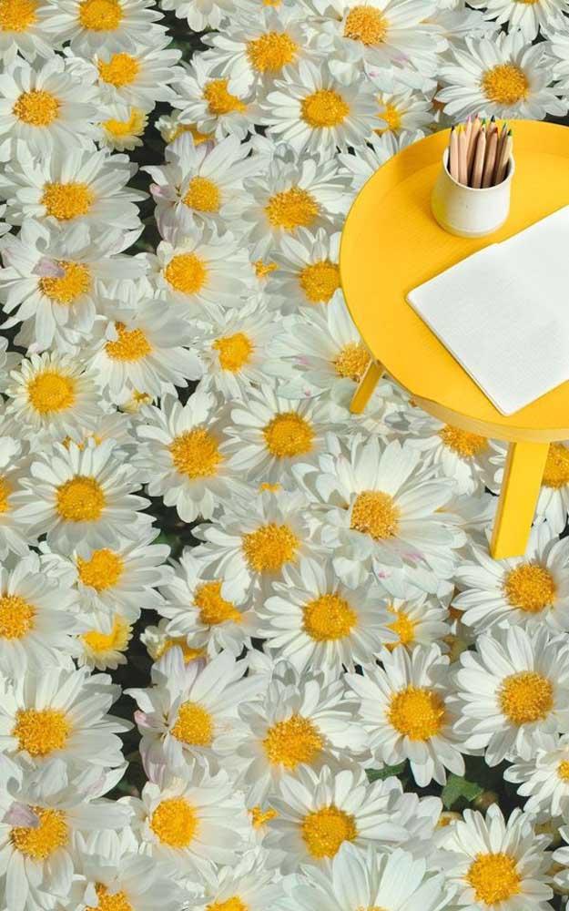 Um chão de flores! Com o piso 3D isso é possível