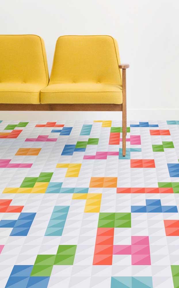 Ou quem sabe você prefira pisar sobre um tetris gigante?