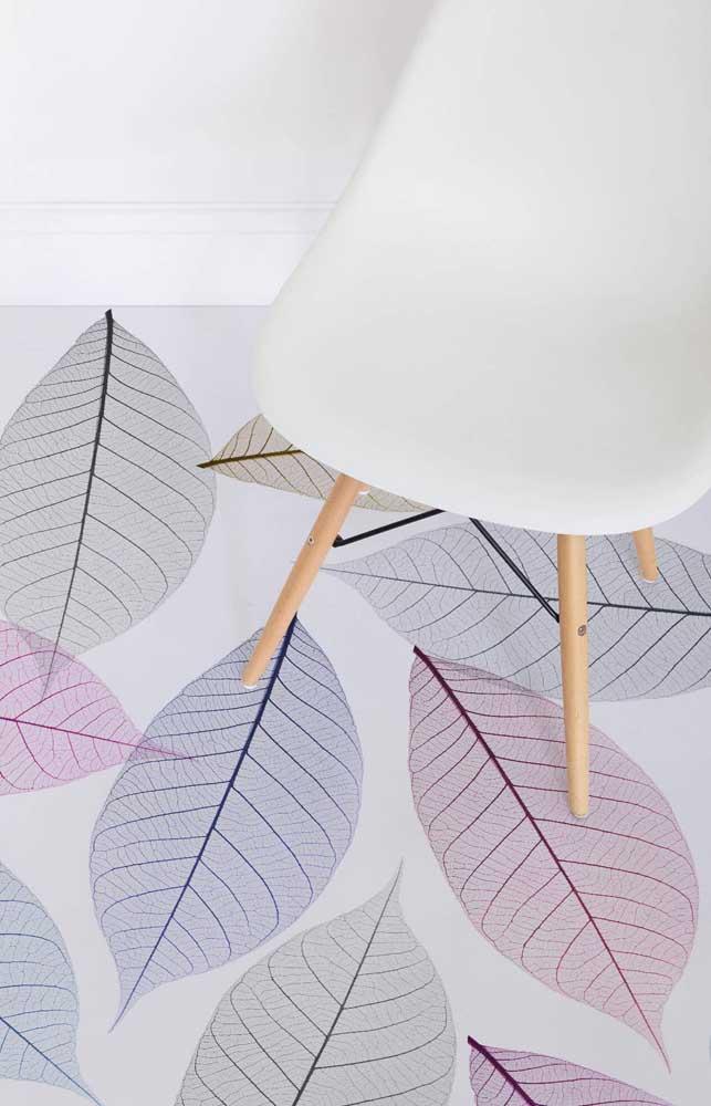 Que linda e delicada inspiração de piso 3D para a sala