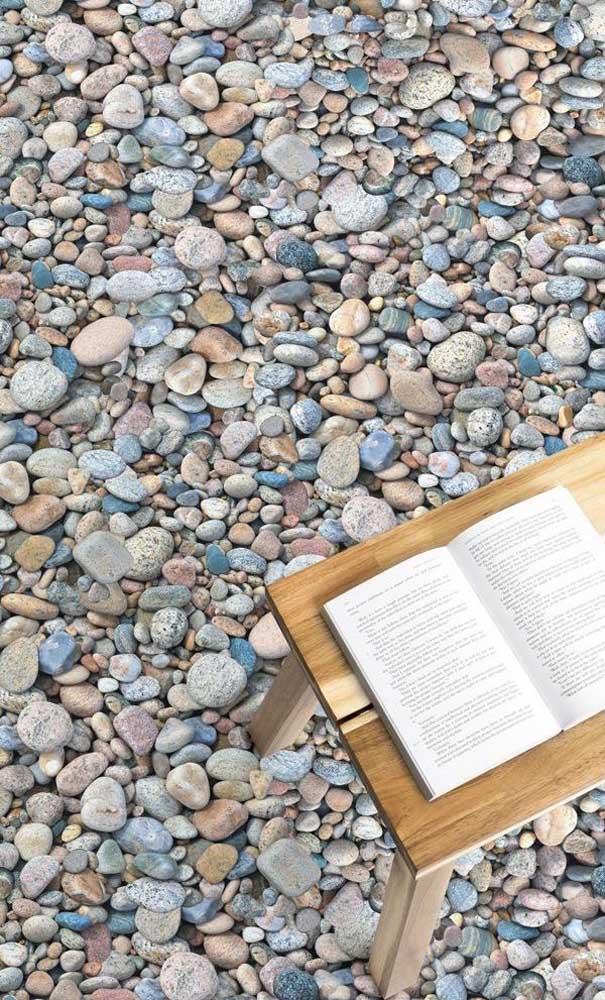 Que tal levar o conforto e aconchego de um chão de pedras naturais para dentro de casa? Você pode fazer isso usando o piso 3D