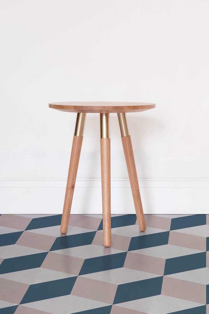 Se você deseja um piso 3D moderno e discreto, aposte nos modelos com padrão geométrico de tons neutros