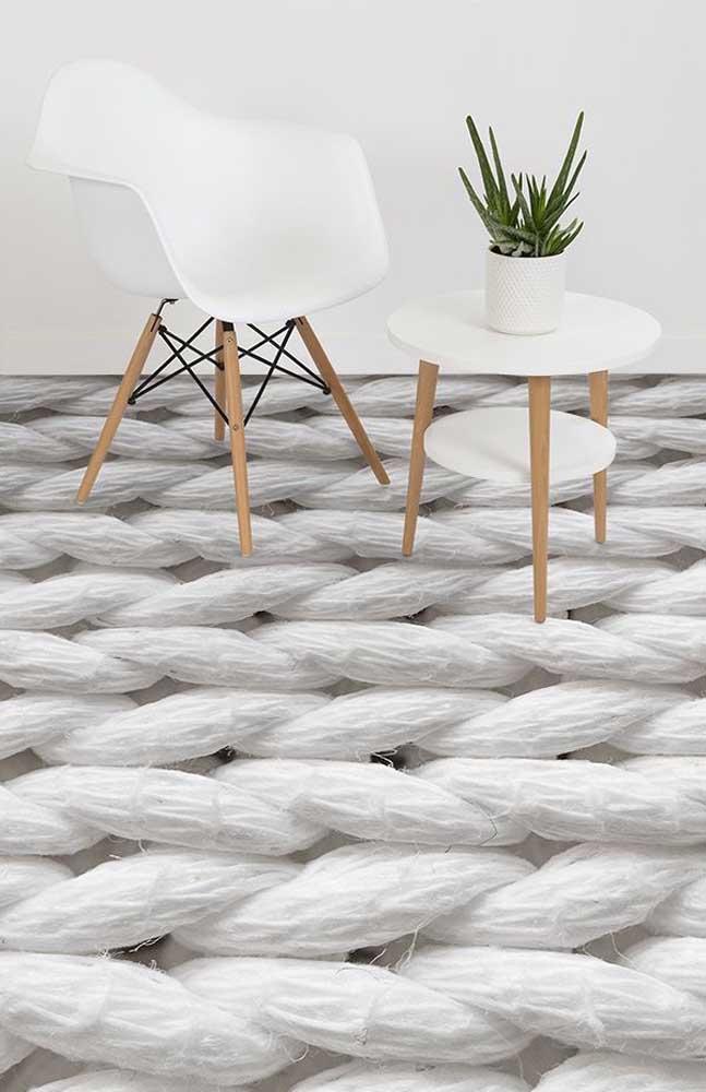 As tramas de um tecido ampliadas milhares e milhares de vezes: esse é o padrão formado por esse piso 3D