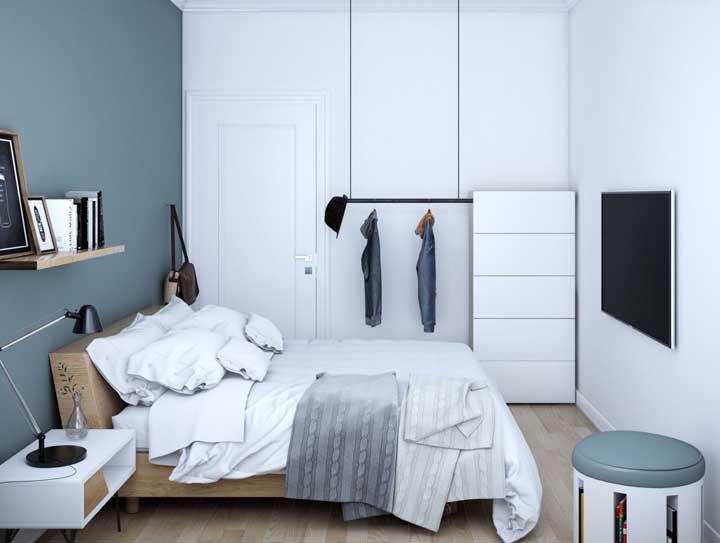 Praticidade, conforto e funcionalidade: três elementos que não podem faltar em um quarto de casal pequeno