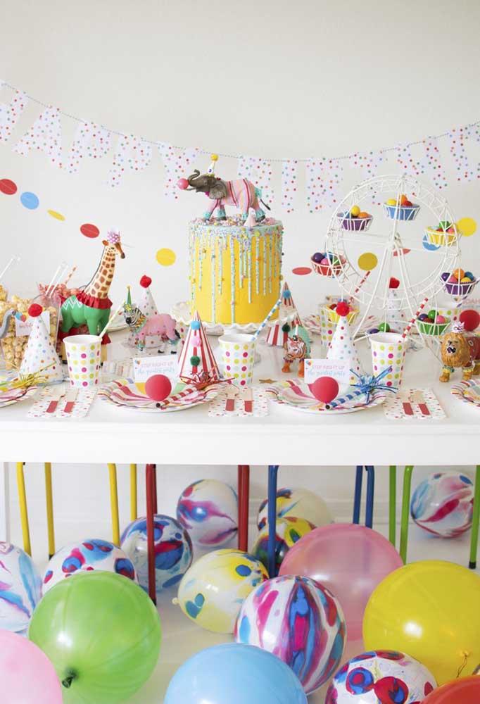 Que tal investir em uma festa totalmente colorida para celebrar o aniversário de seu filho?