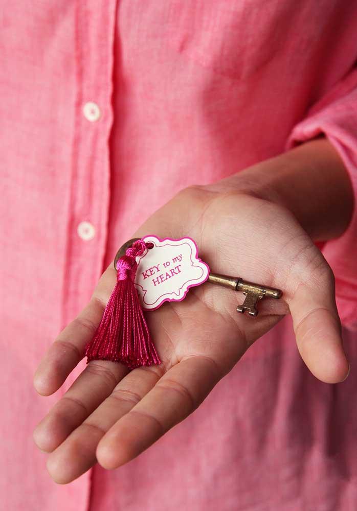 Entregue a chave do seu coração somente para quem merece.