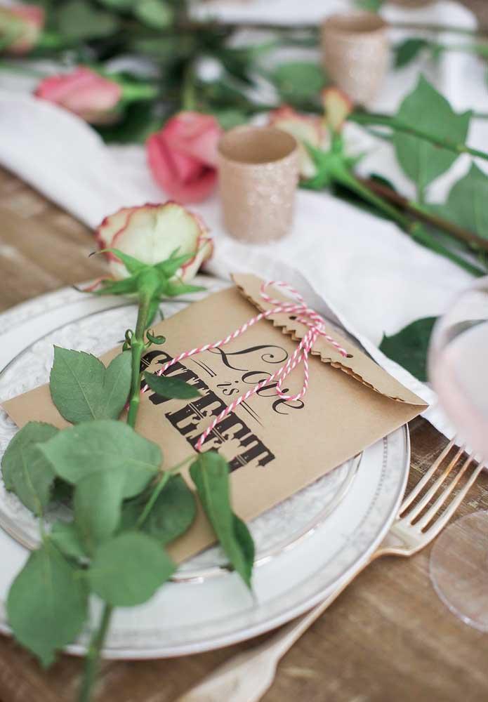 Surpreenda seu amor ainda na mesa de jantar.