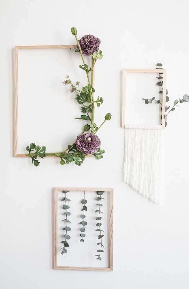 Quadros de flores naturais: diferente e original