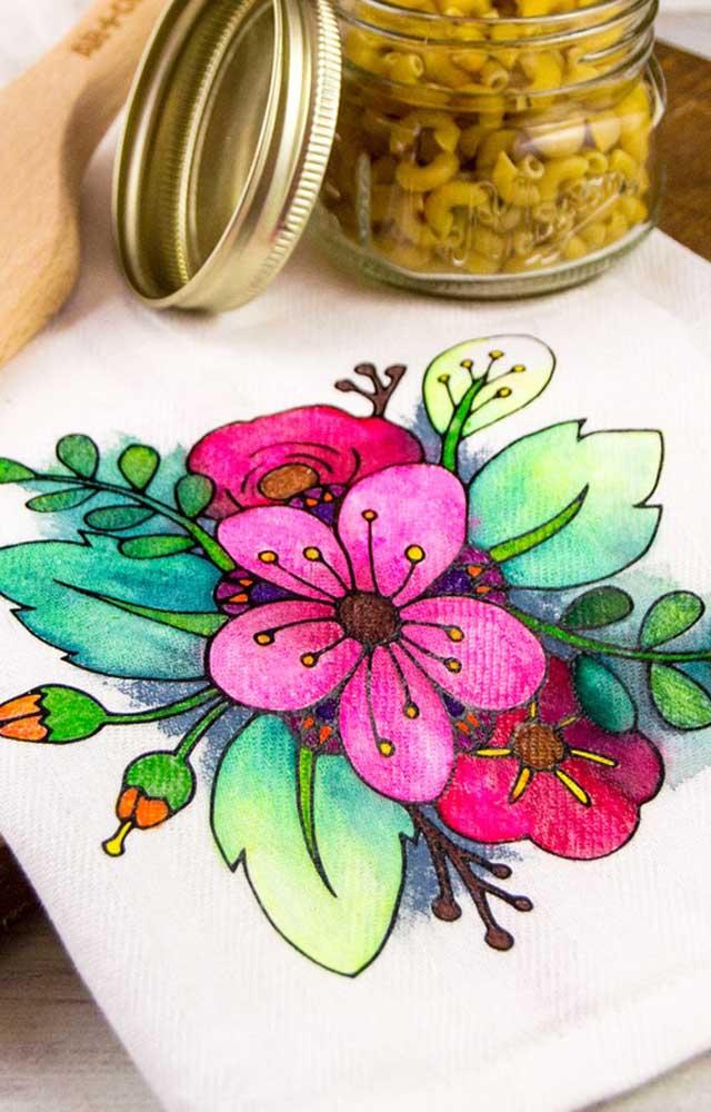 Pintura Em Pano De Prato Materiais Como Fazer Passo A Passo E Fotos