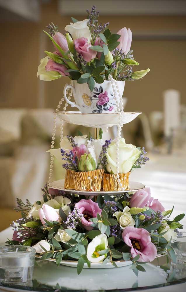 Decoração para o Chá Bar em estilo romântico