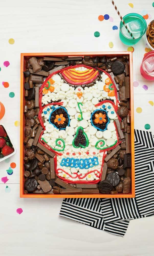 """Hummm, uma caixa de chocolates linda e deliciosa decorada no tema """"Festa no Céu"""""""