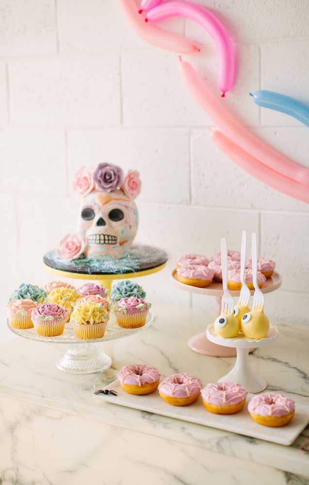 """Para quem prefere uma """"Festa no Céu"""" mais delicada e romântica pode investir em tons mais suaves e pasteis"""