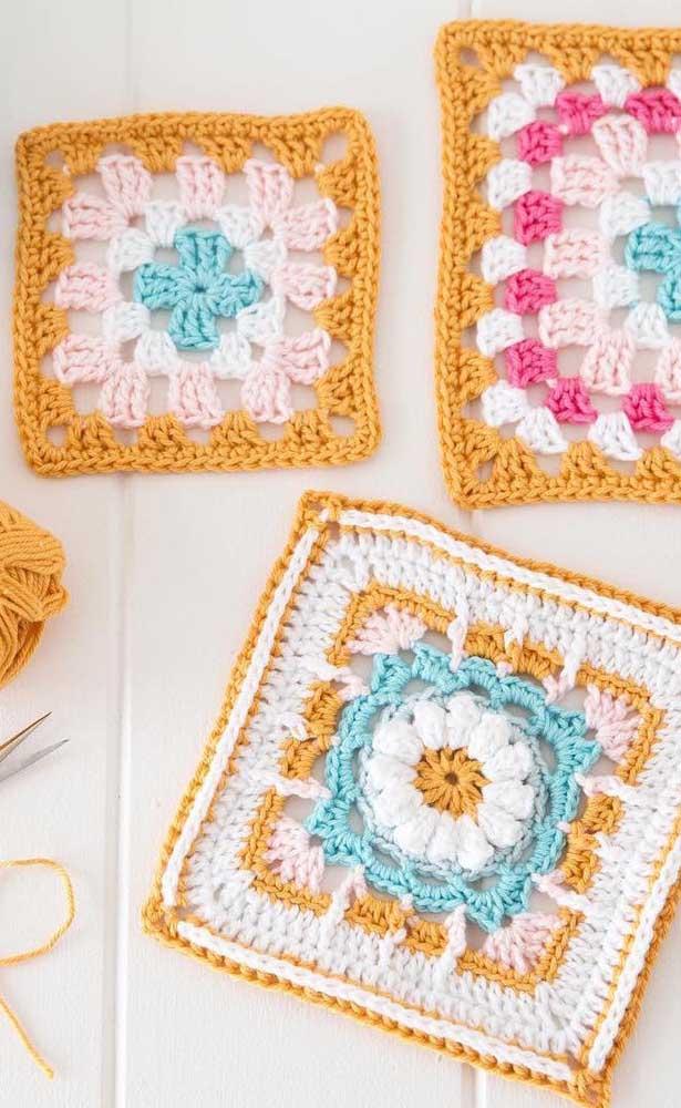 Escolha suas cores favoritas e crie seus próprios guardanapos de crochê totalmente personalizados