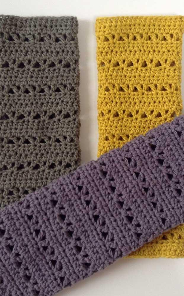 Para quem prefere algo mais moderno, essa inspiração de guardanapos de crochê é perfeita
