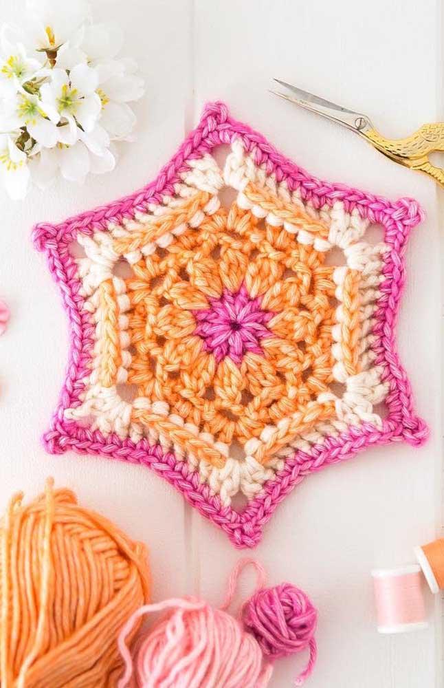 Tem guardanapo de crochê em formato de estrela também!