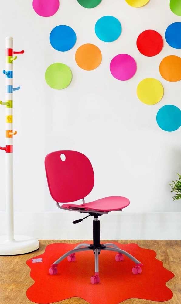 Os tapetes emborrachados também são perfeitos para quem deseja uma decor mais colorida e despojada