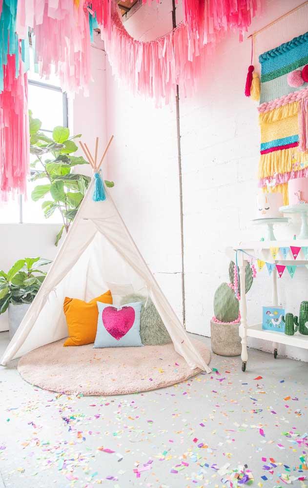 Decoração de festa infantil com tema indígena