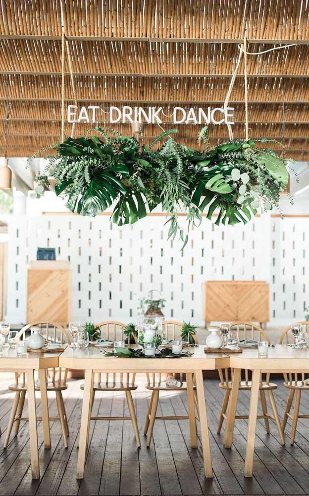 Comer, beber e dançar: a decoração da festa já diz tudo!