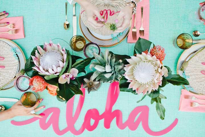 Que tal uma festa inspirada no Havaí? Bem tropical!