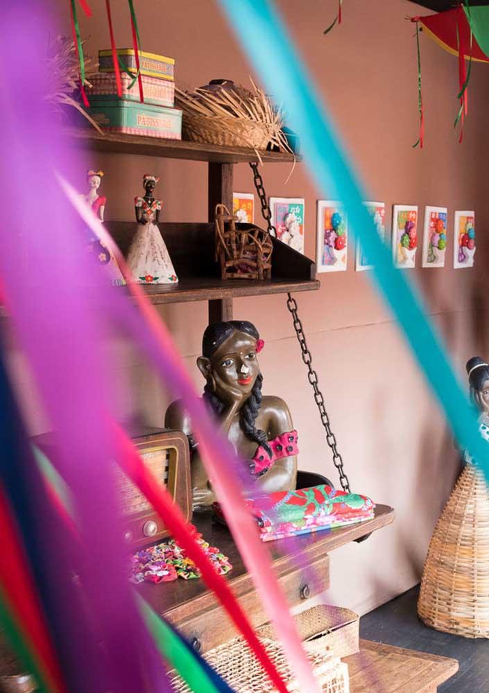 Aposte em itens mais rústicos na hora de fazer a decoração da festa junina.