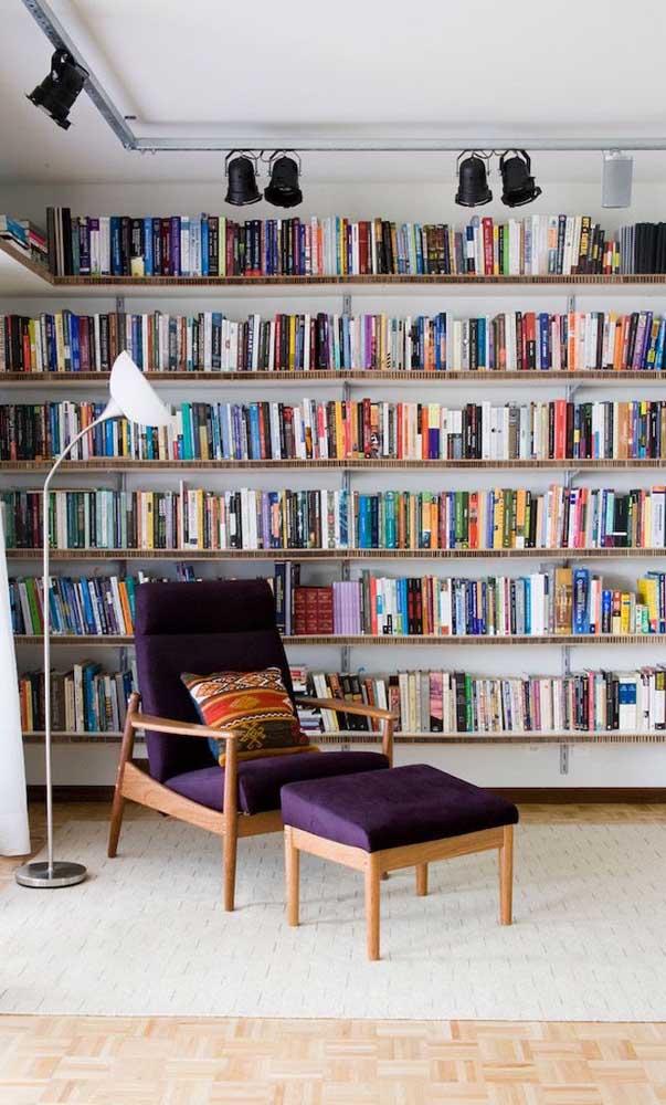 Pense no local para sua biblioteca a partir da quantidade de livros que você tem