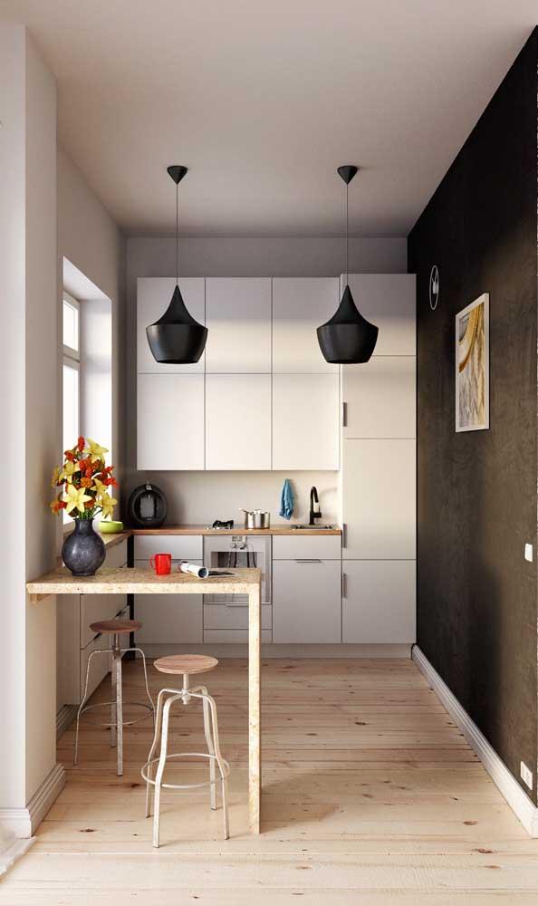 Mesa bancada pequena para a cozinha de estilo americano