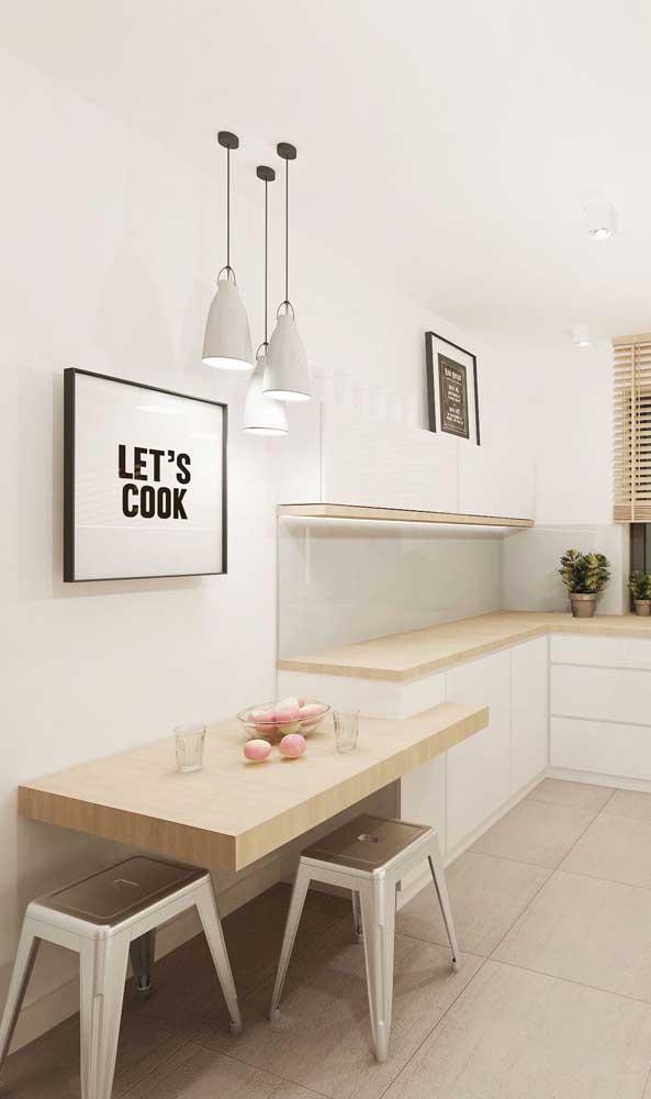 Mesa balcão para cozinha pequena; a solução ideal para apartamentos