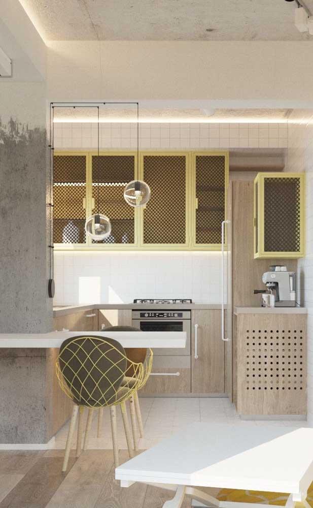 Mesa balcão! Um modelo simples, barato e bonito de mesa para cozinha