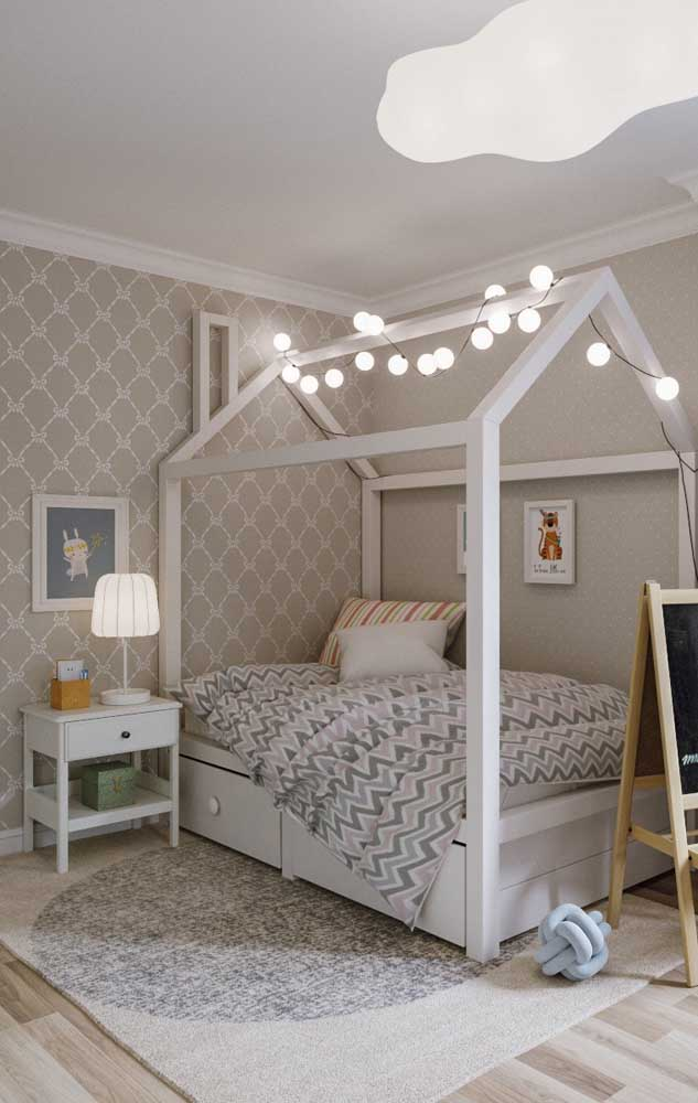 No quarto do bebê, a cor marfim traz calma e tranquilidade