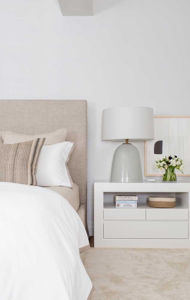 Branco e marfim: uma composição perfeita para quem não quer errar na decor