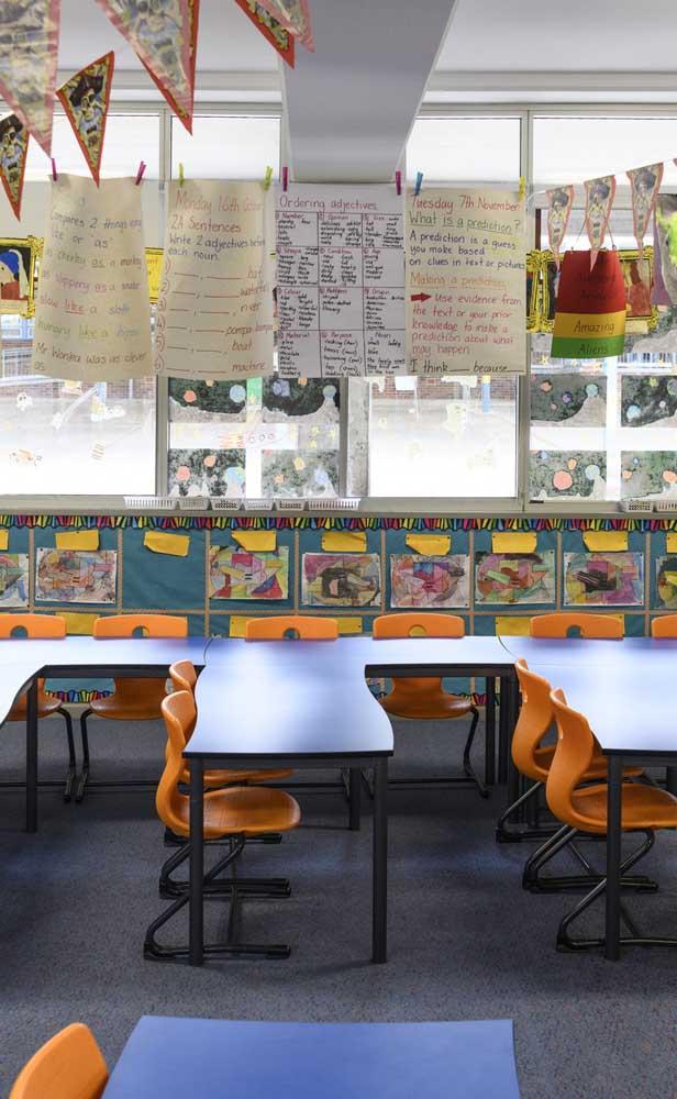 Quando se tem o envolvimento dos alunos, a decoração da sala de aula fica assim: repleta de identidade!