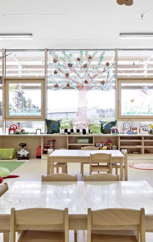 Conforto e funcionalidade são itens indispensáveis na decoração da sala de aula infantil