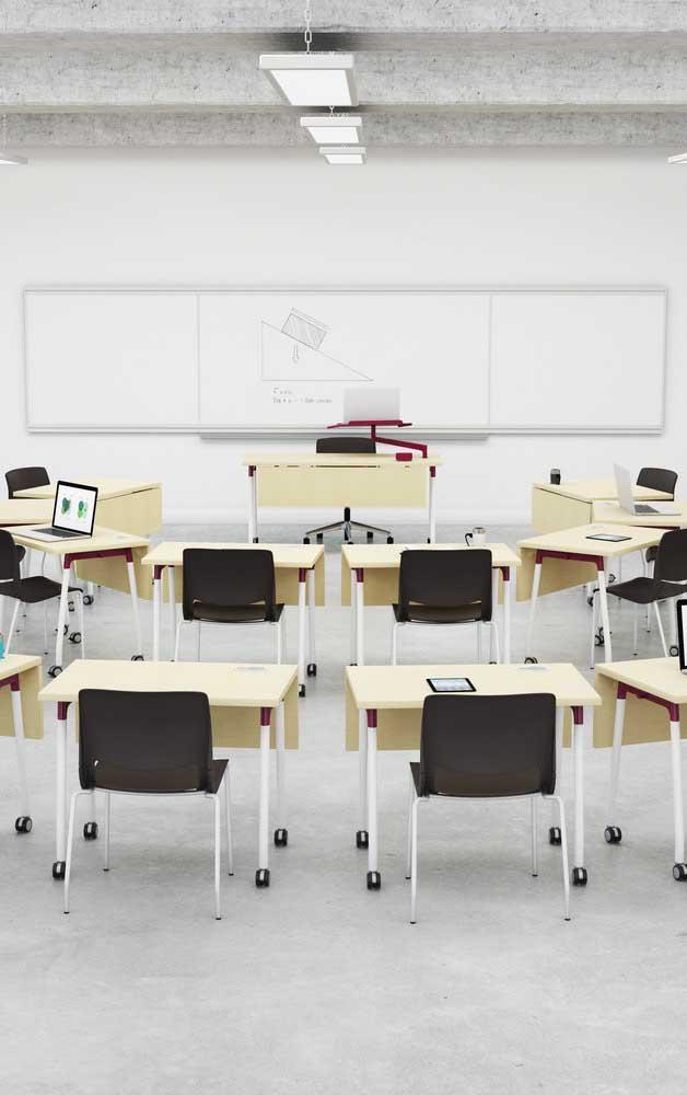Mude o formato tradicional da sala de aula como forma de estimular o aprendizado dos alunos