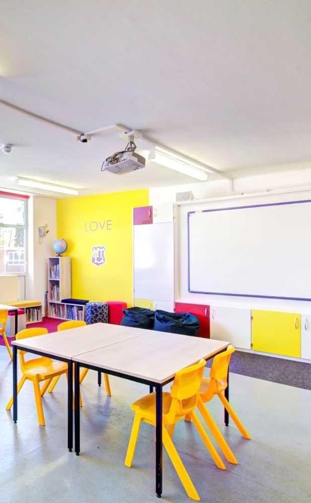 Uma área de leitura reservada dentro da sala de aula