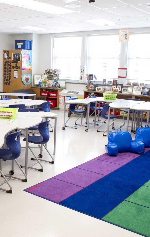 Tapete na sala de aula, porque não?