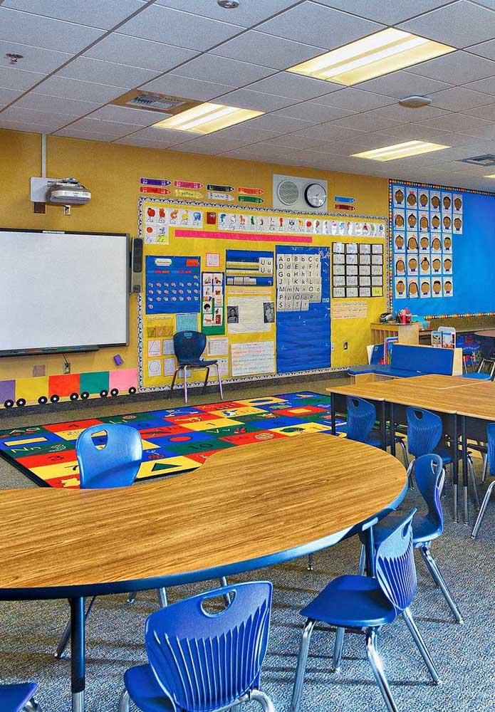 Coloque na sala de aula fotos, desenhos ou caricaturas dos alunos