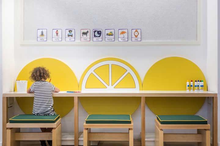 Decoração de sala de aula com tema frutas