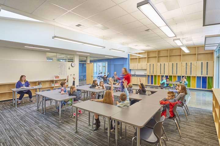 A circulação livre dentro da sala de aula também é importante.