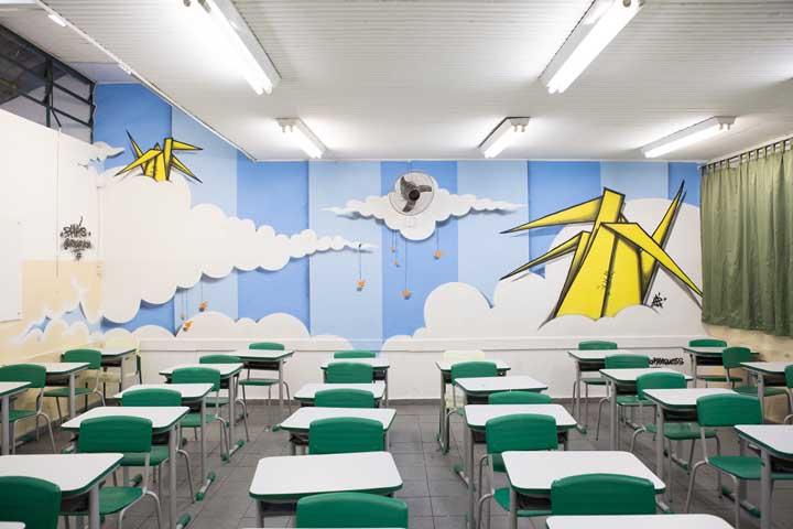 Leve seus alunos às nuvens com uma decoração de sala de aula inspirada em aviões