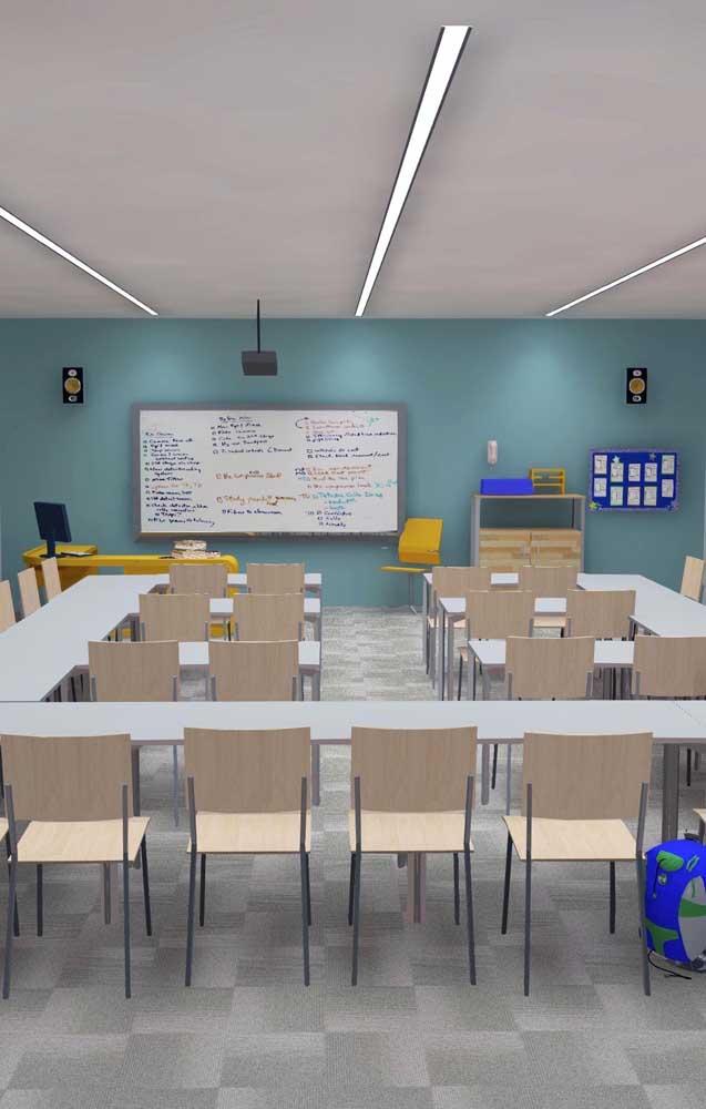Uma pintura na parede já faz toda a diferença na decoração da sala de aula