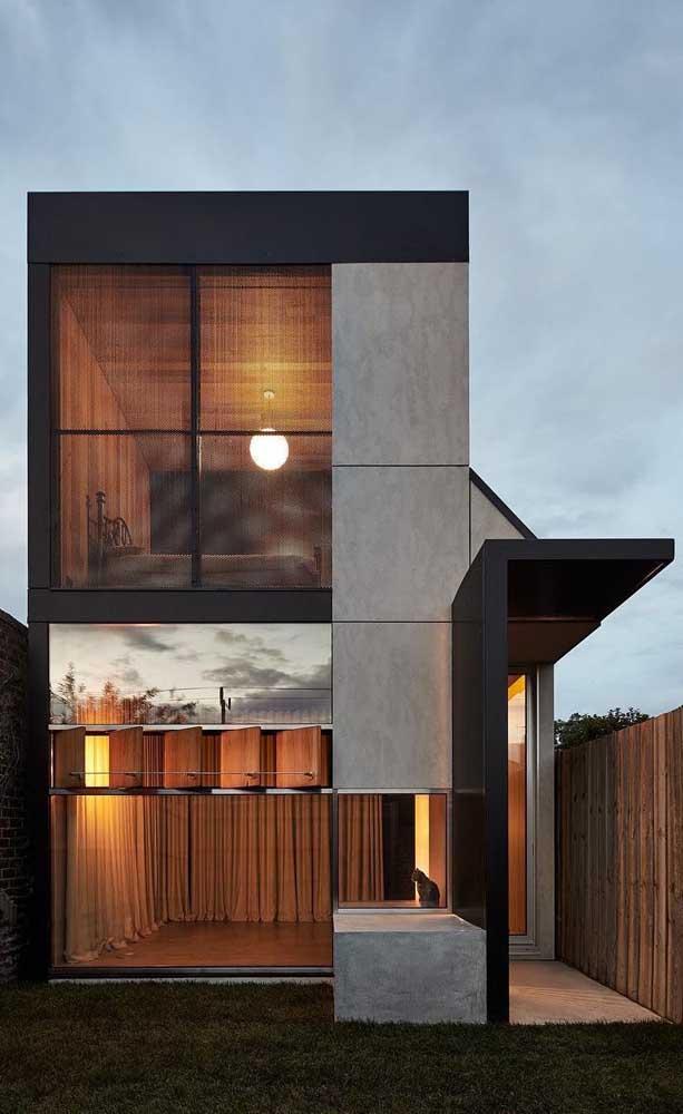 Moderna, simples e de um visual incrível: a casa duplex permite diferentes conceitos arquitetônicos.
