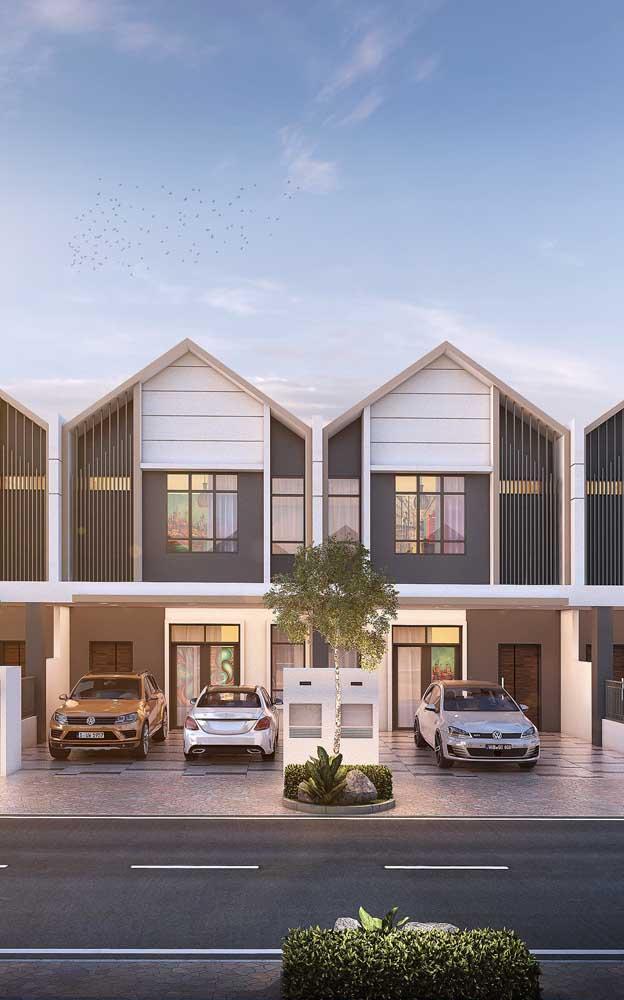 Casas geminadas em estilo duplex; modelo que se valoriza constantemente no mercado imobiliário