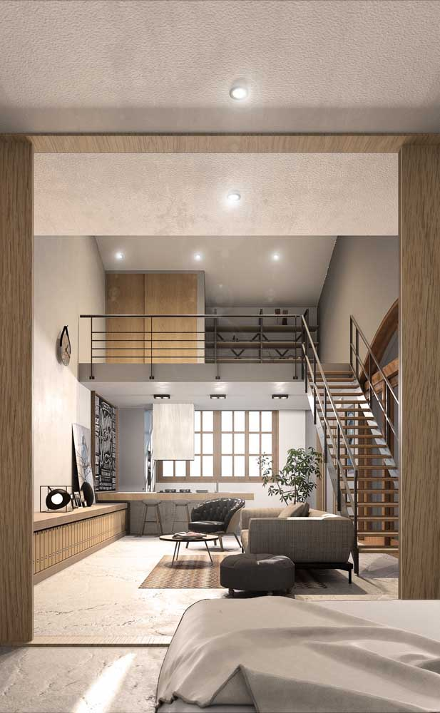 O pé direito duplo é requisito obrigatório nas casas de estilo duplex