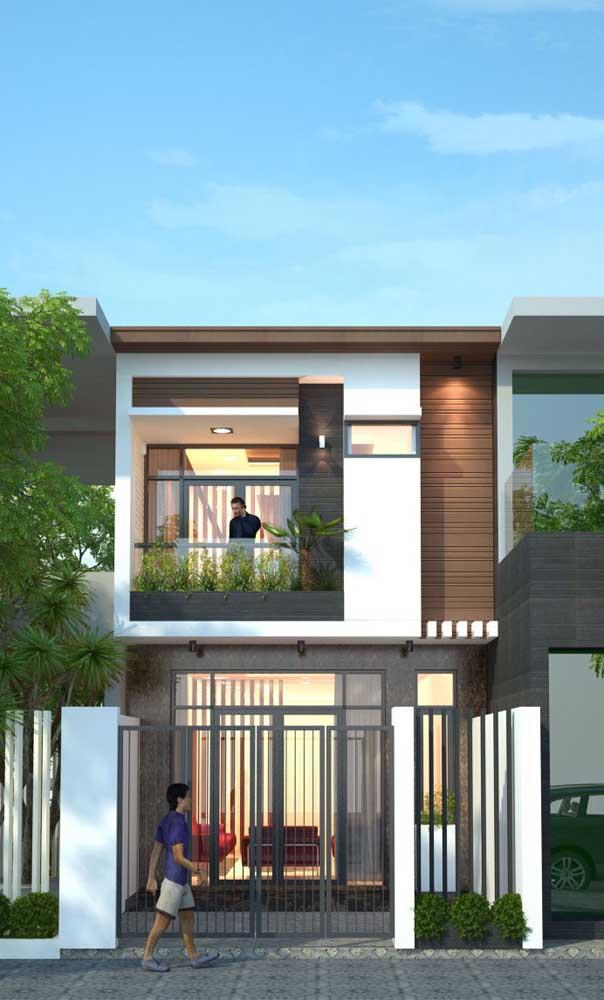 O modelo de casa duplex é ideal para famílias grandes que precisam otimizar da melhor maneira possível o terreno disponível
