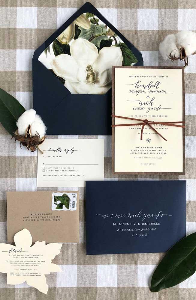 Que tal enviar um convite lindo e personalizado para os convidados das Bodas de Algodão?