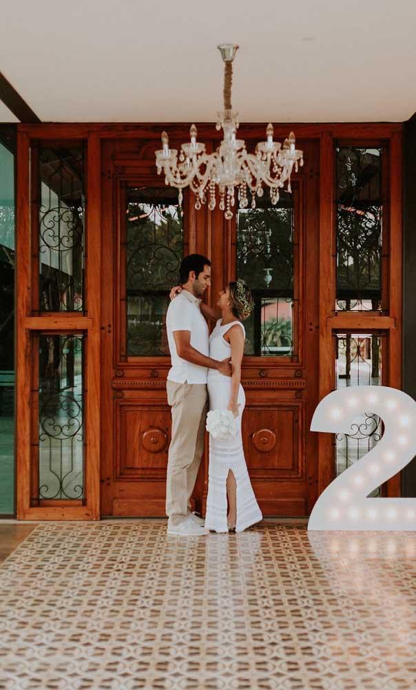 O número de anos de casados também pode ser usado na decoração das Bodas de Algodão