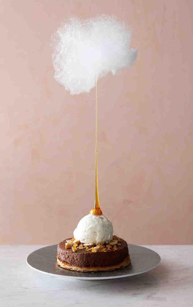 Que legal esse modelo de sobremesa para as Bodas de Algodão!
