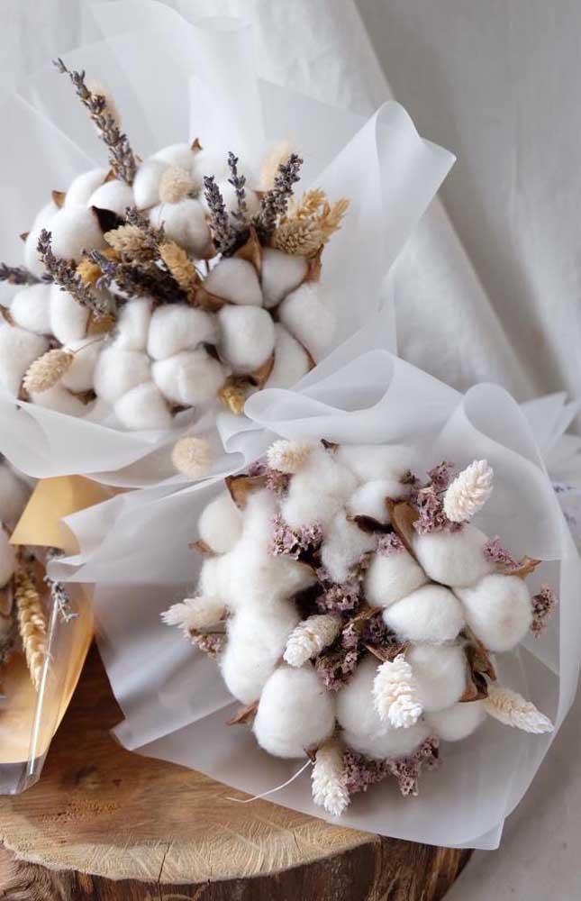 Lindos buques de algodão para as Bodas de Algodão