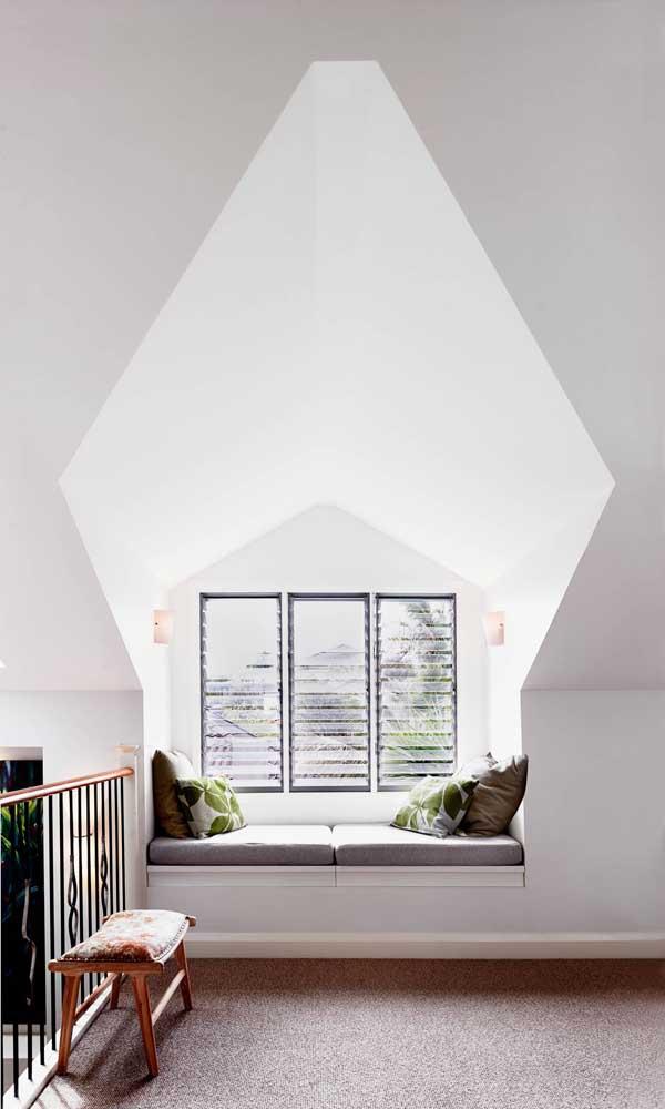 Trio de vitrôs basculantes de alumínio para a sala de estar