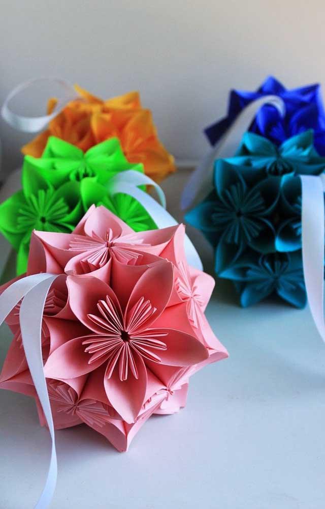 Monte o seu Kusudama nas cores que preferir