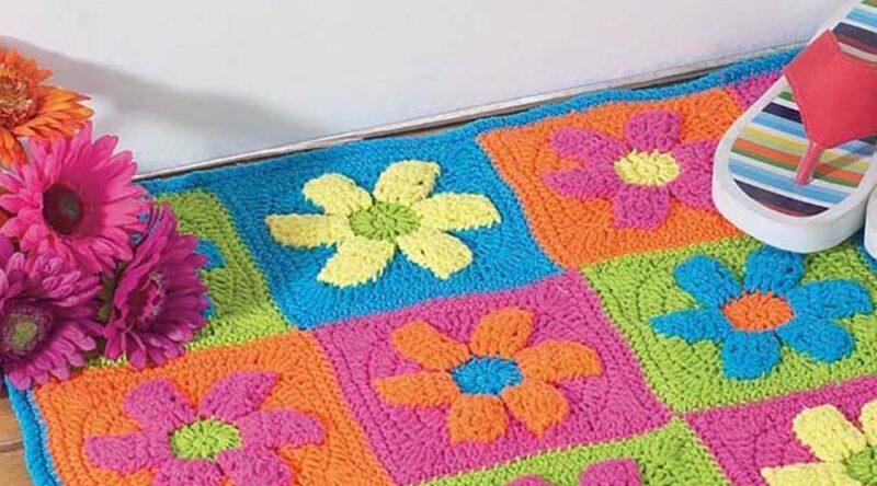 Tapete de crochê com flores: 60 opções, tutoriais e fotos